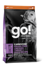 GO! GO! Carnivore DOG GF SENIOR Chicken, Turkey, Duck 12lb