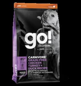 GO! GO! Carnivore DOG GF SENIOR Chicken, Turkey, Duck 12lb