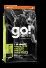 GO! GO! Carnivore DOG GF PUPPY Chicken, Turkey, Duck 12lb