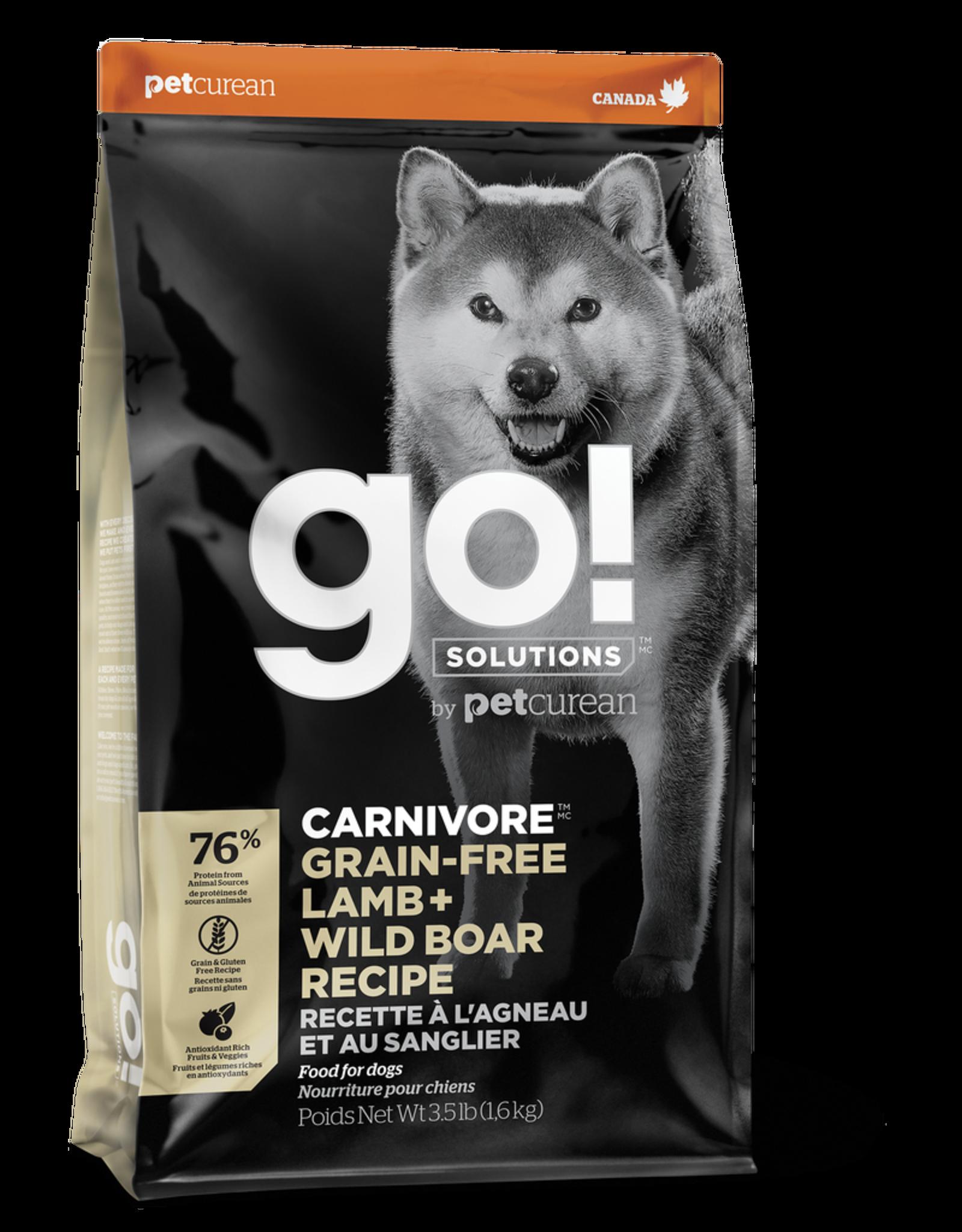 GO! GO! Carnivore DOG GF Lamb and Boar 22lb