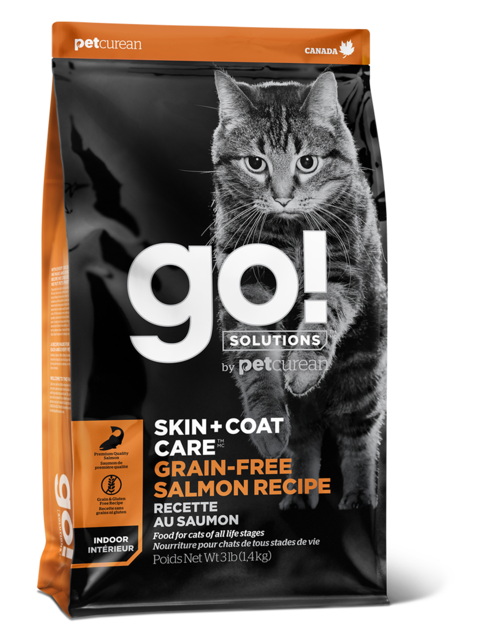 GO! GO! Skin + Coat GF Salmon for Cats 8lb