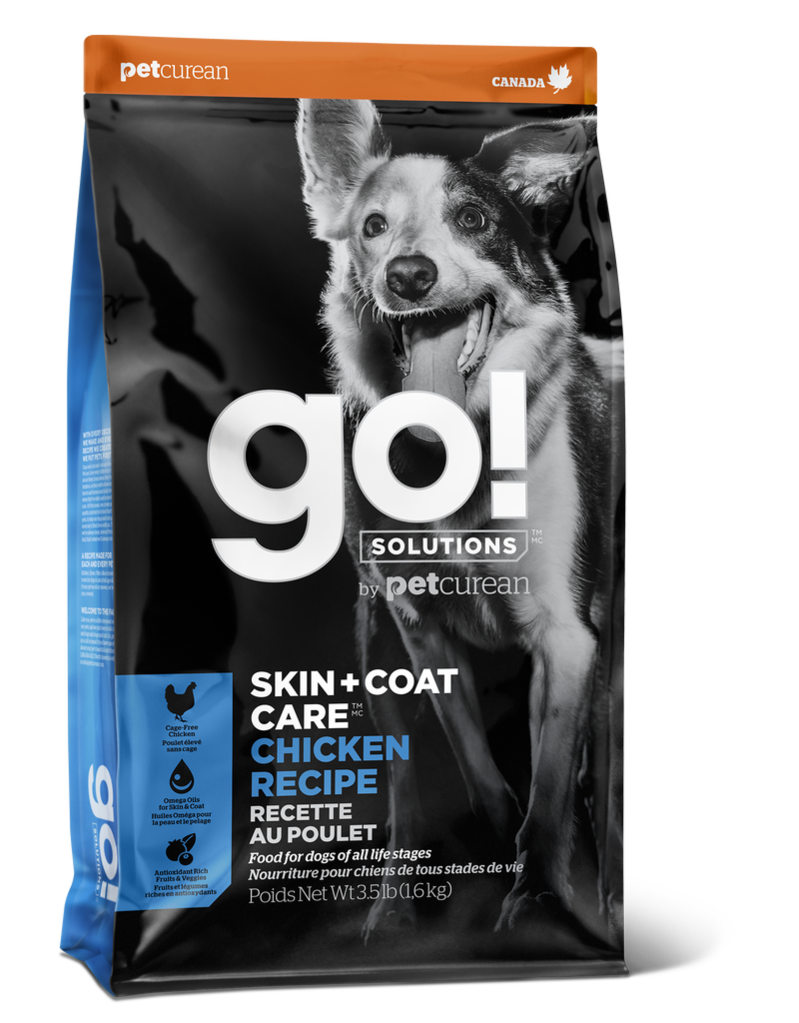 GO! GO! Skin + Coat Chicken for Dogs 12lb
