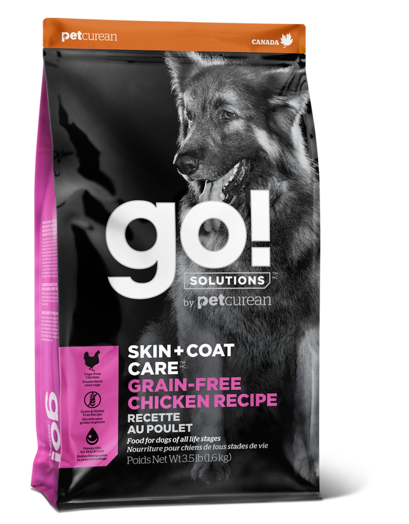 GO! GO! Skin + Coat GRAIN FREE Chicken for Dogs 25lb