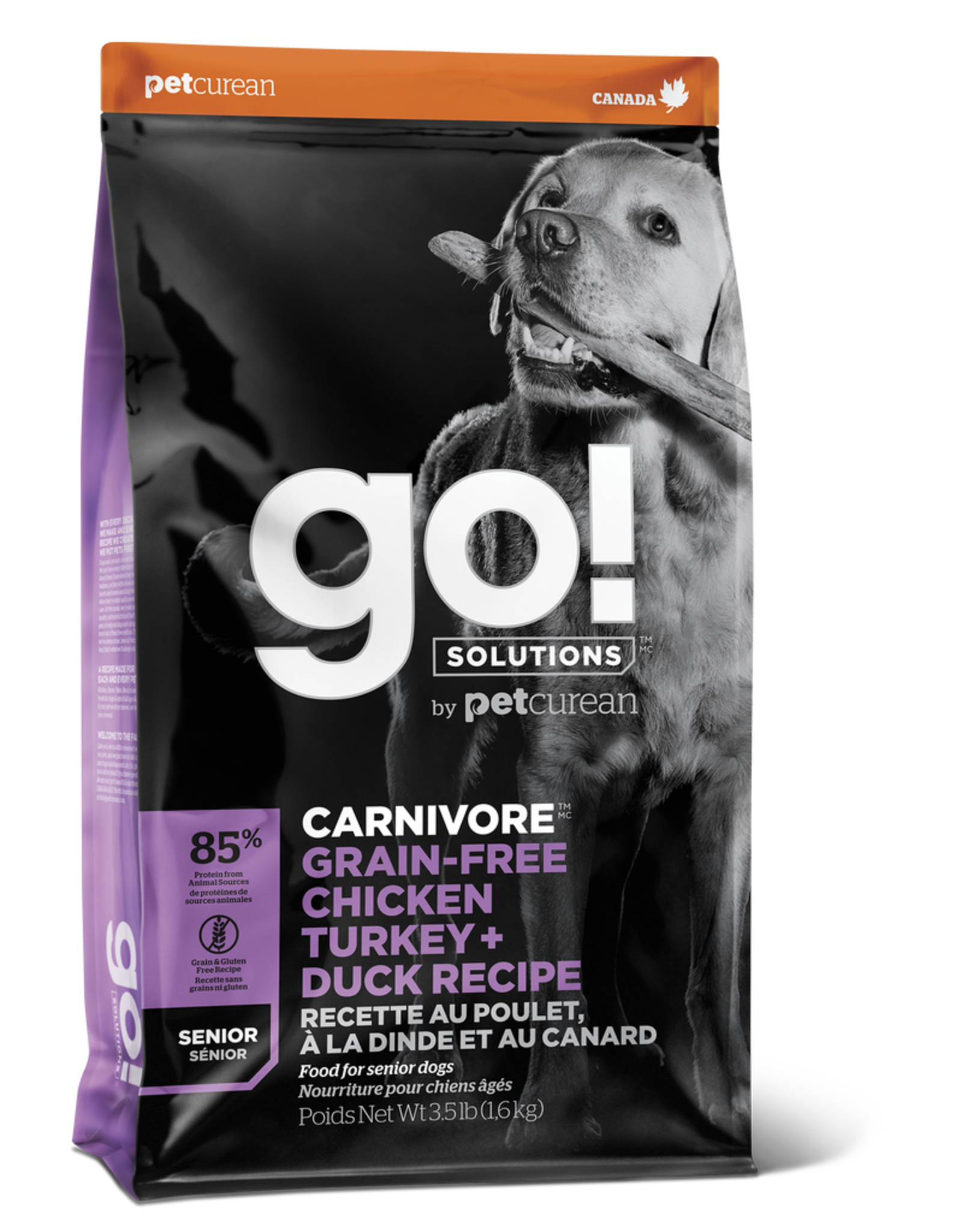 GO! GO! Carnivore DOG GF SENIOR Chicken, Turkey, Duck 22lb