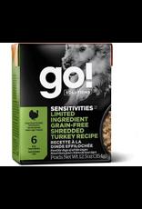GO! GO! TetraPak Dog LID GF Shredded Turkey 12.5oz