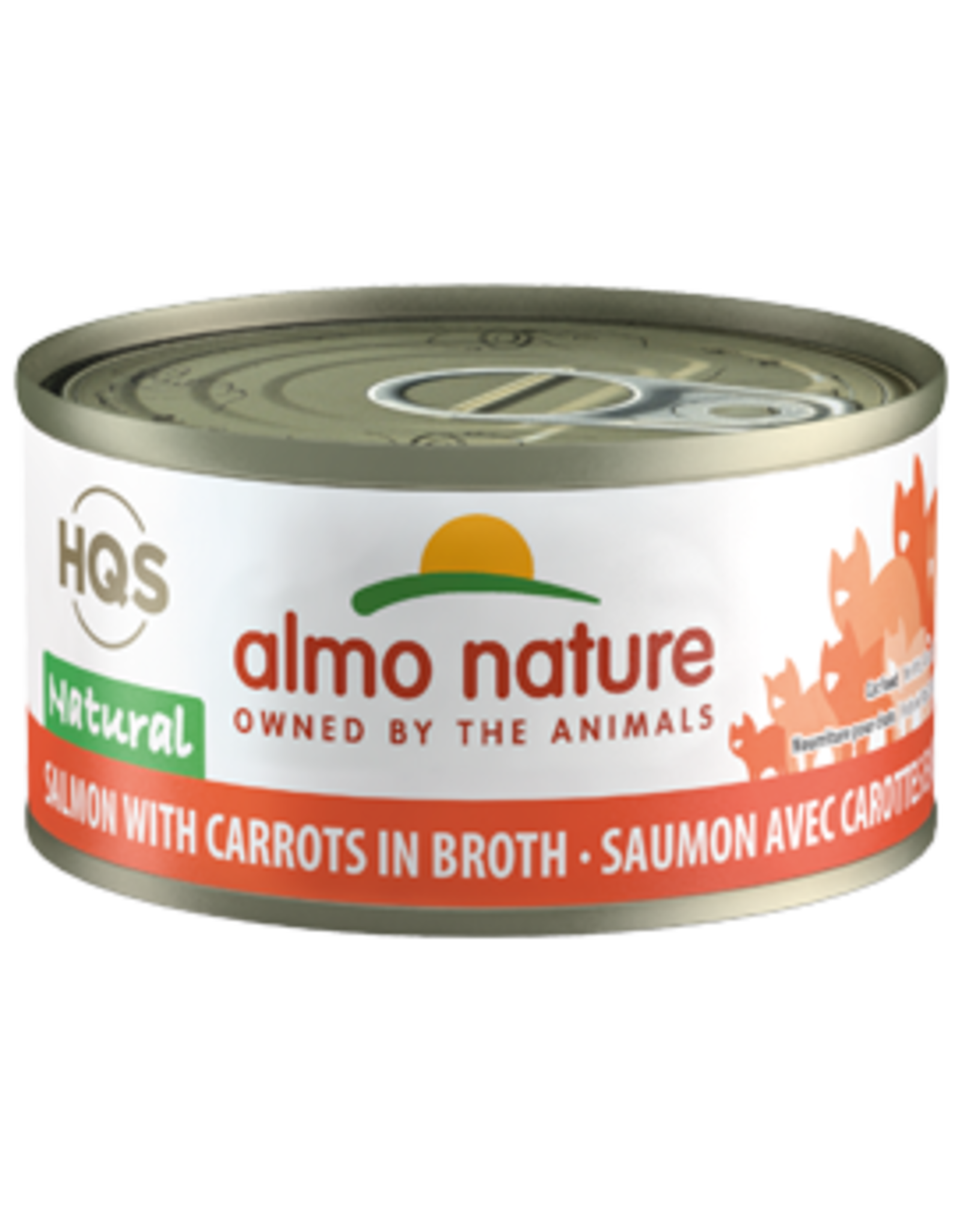 ALMO AlmoNature CAT Natural Salmon w. Carrots in Broth 70g