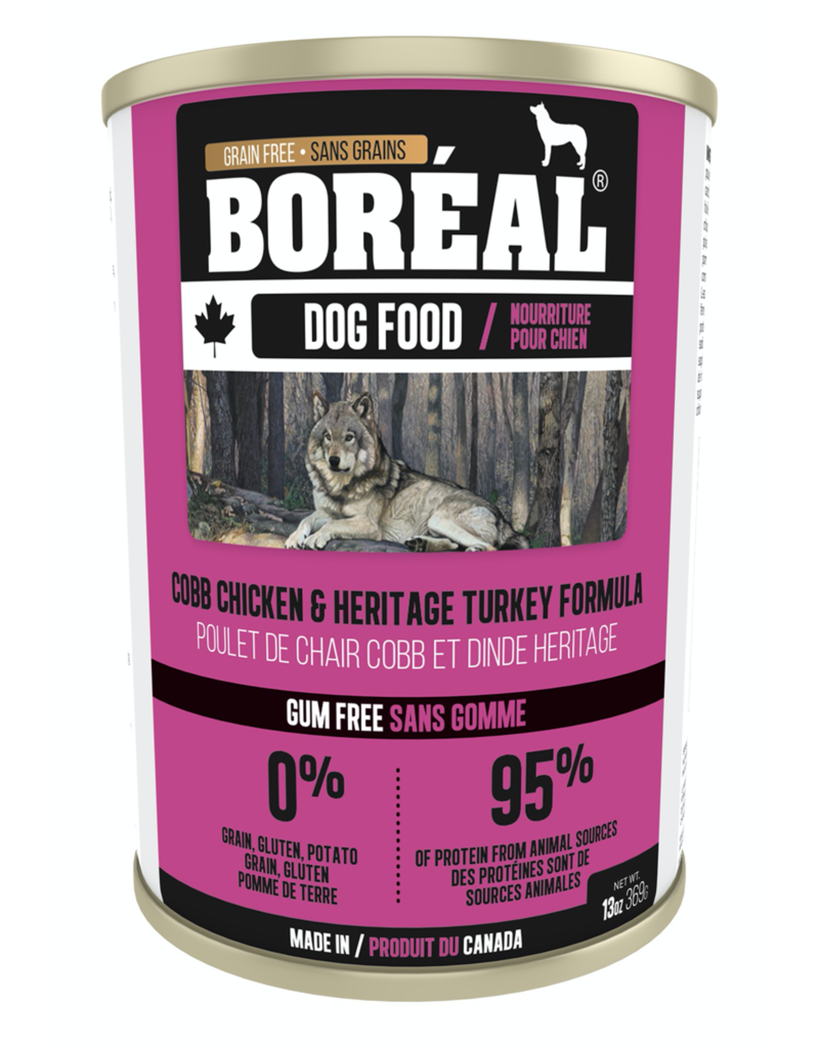 BOREAL BOREAL Dog - CobbChicken & Heritage Turkey 369g