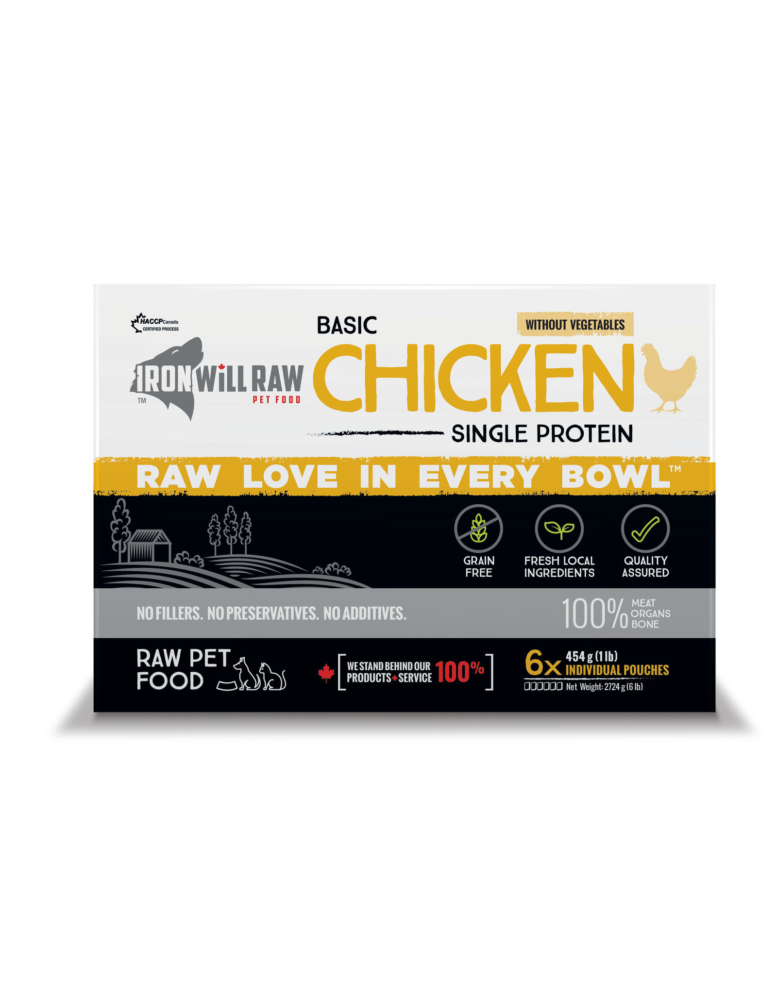 Iron Will Raw Iron Will Basic Chicken 6lb Box