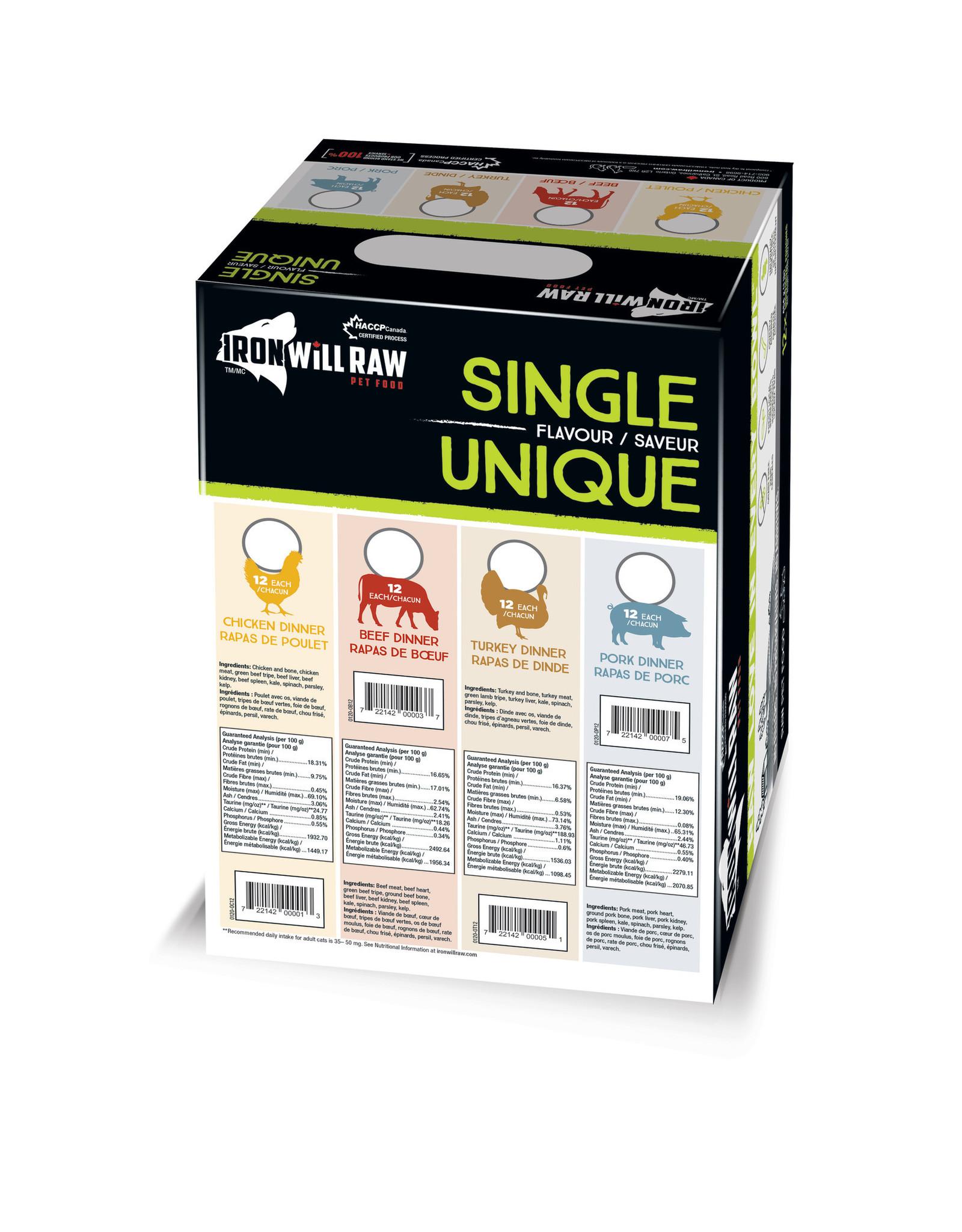 Iron Will Raw Iron Will Original Beef Dinner 12lb Box