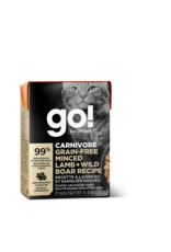 GO! GO! TetraPak Cat Carnivore GF Minced Lamb and Boar 6.4oz
