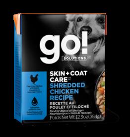 GO! GO! TetraPak Dog Skin + Coat Shredded Chicken 12.5oz