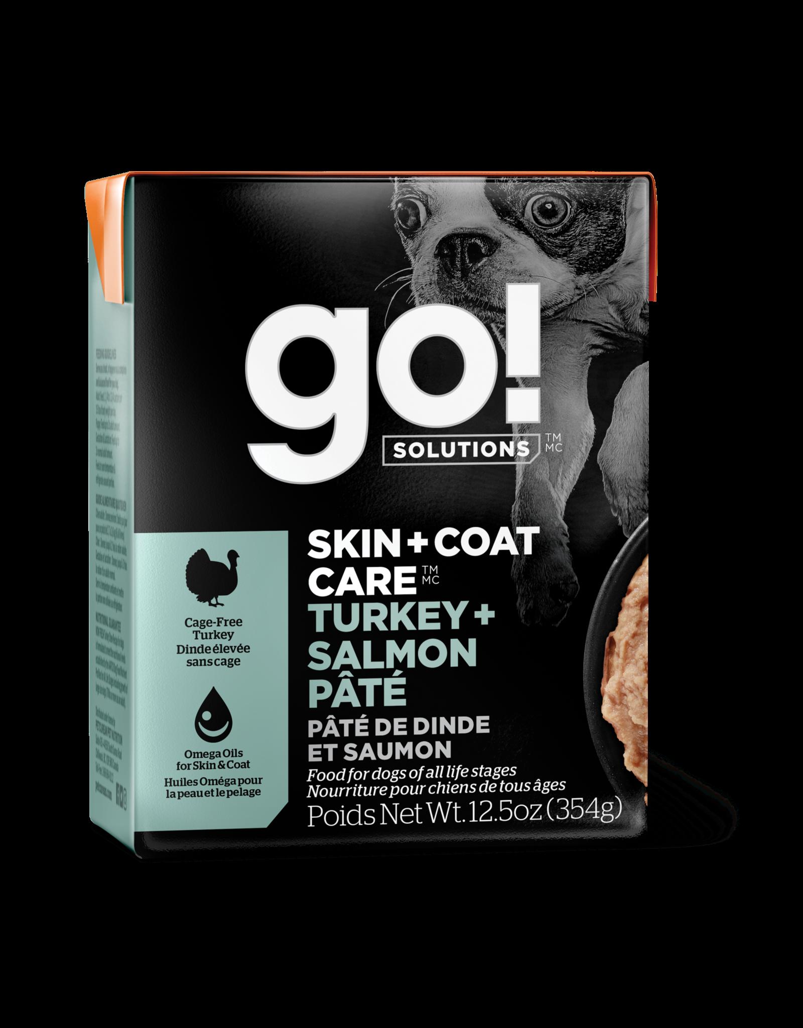 GO! GO! TetraPak Dog Skin + Coat Turkey Salmon 12.5oz