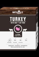 NATURAWLS Naturawls CAT - FROZEN RAW - Turkey & Beef 6lbs (24x113g)