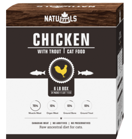 NATURAWLS Naturawls CAT - FROZEN RAW  - Chicken & Trout (24x113g)
