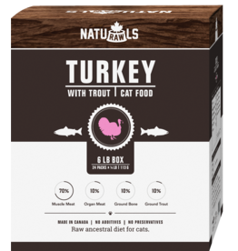 NATURAWLS Naturawls CAT - FROZEN RAW - Turkey & Trout (24x113g)