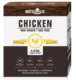 NATURAWLS Naturawls DOG - FROZEN RAW - Chicken w. Veggies 8 x 1lb