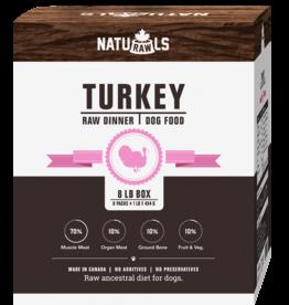 NATURAWLS Naturawls DOG - FROZEN RAW - Turkey w. Veggies 8 x 1lb