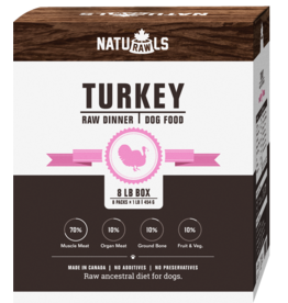 NATURAWLS Naturawls FROZEN for DOGS - Turkey w. Veggies 8 x 1lb