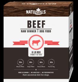 NATURAWLS Naturawls DOG - FROZEN RAW - Beef w. Veggies 8 x 1lb