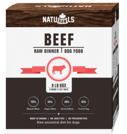 NATURAWLS Naturawls FROZEN RAW for DOGS - Beef w. Veggies 8 x 1lb