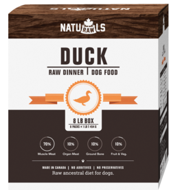 NATURAWLS Naturawls FROZEN RAW for DOGS - Duck w. Veggies 8 x 1lb