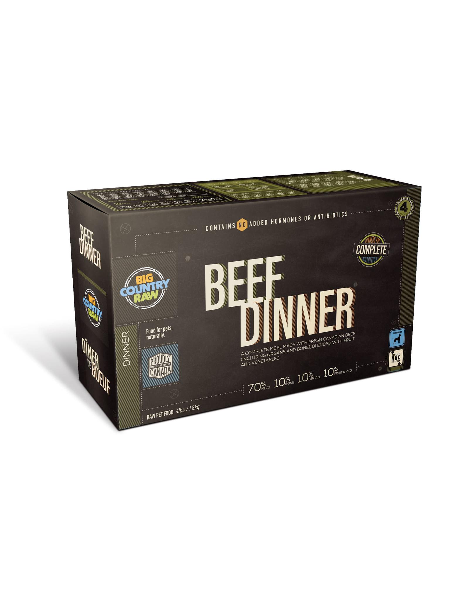 Big Country Raw BCR CARTON - 4x1lb - Beef Dinner