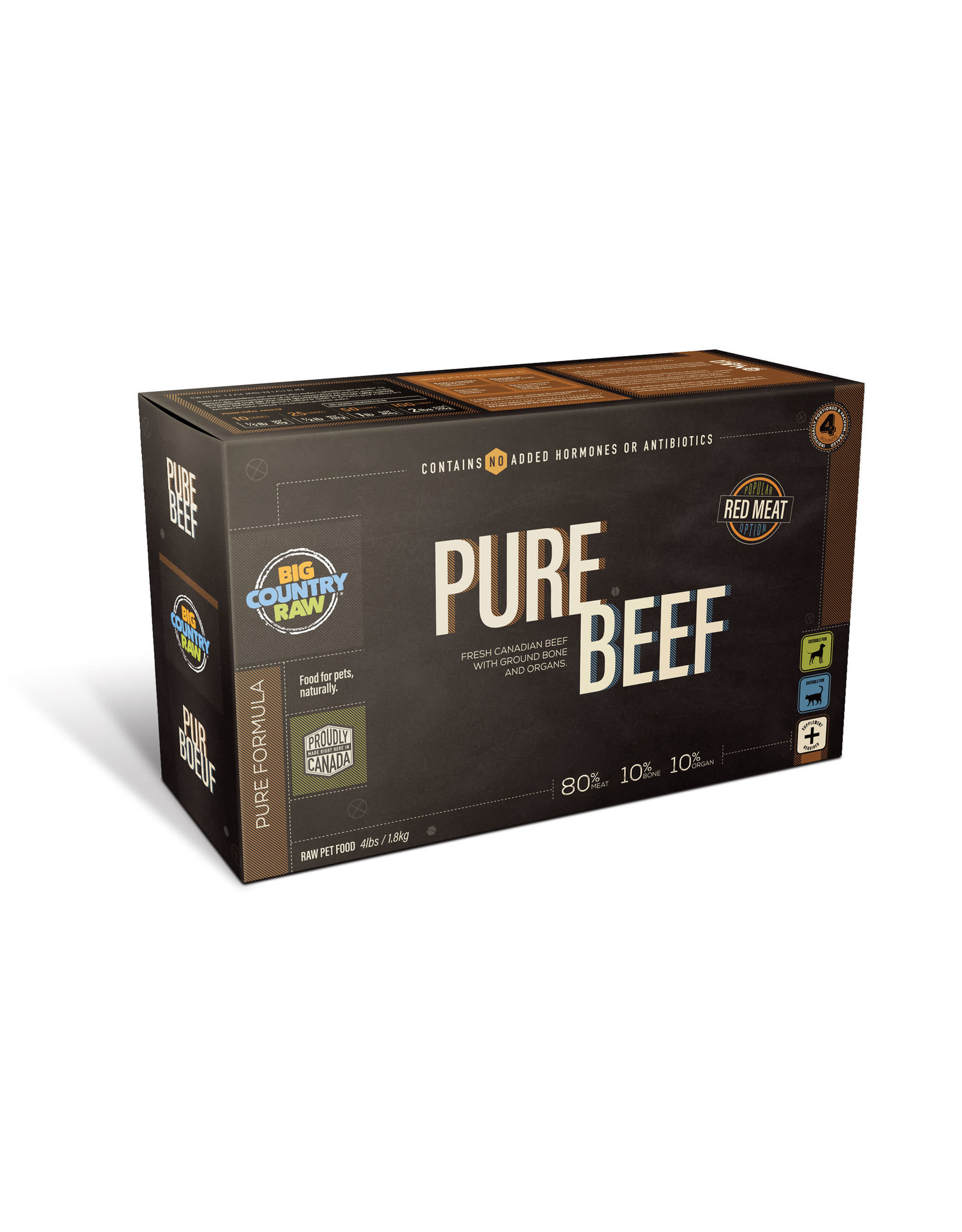 BCR BCR CARTON - 4x1lb - Pure Beef