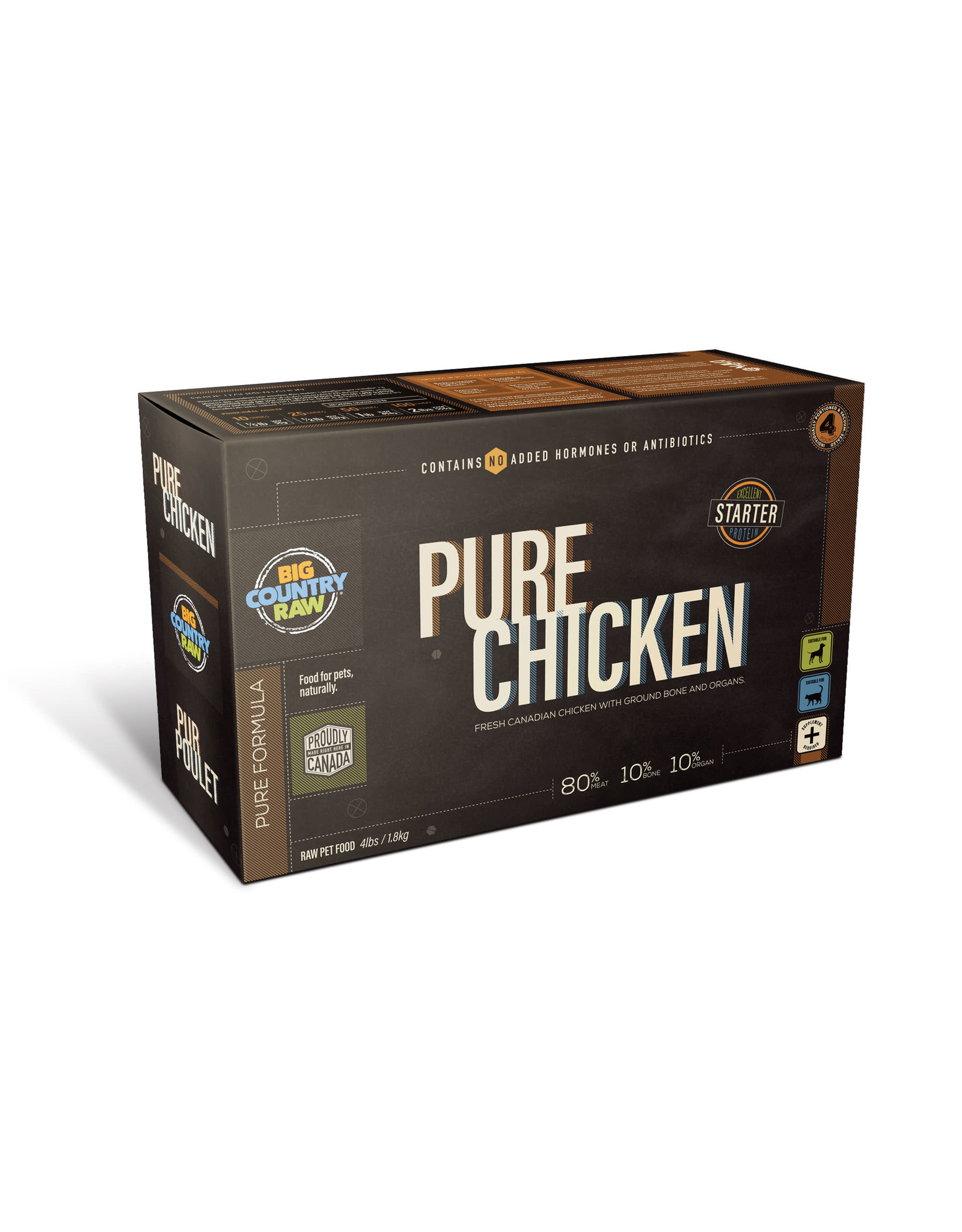 Big Country Raw BCR CARTON - 4x1lb - Pure Chicken
