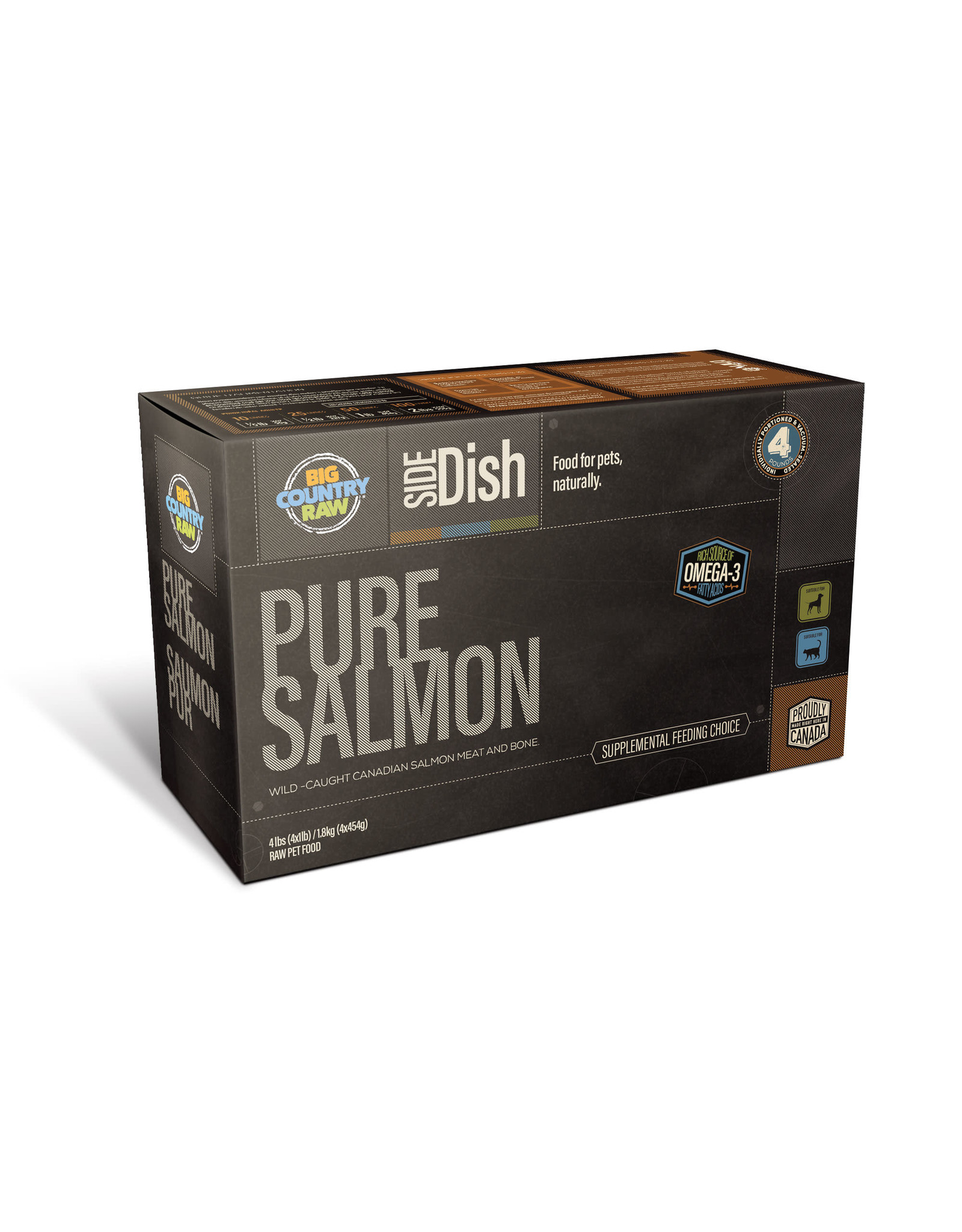 Big Country Raw BCR CARTON - 4x1lb - Pure Salmon