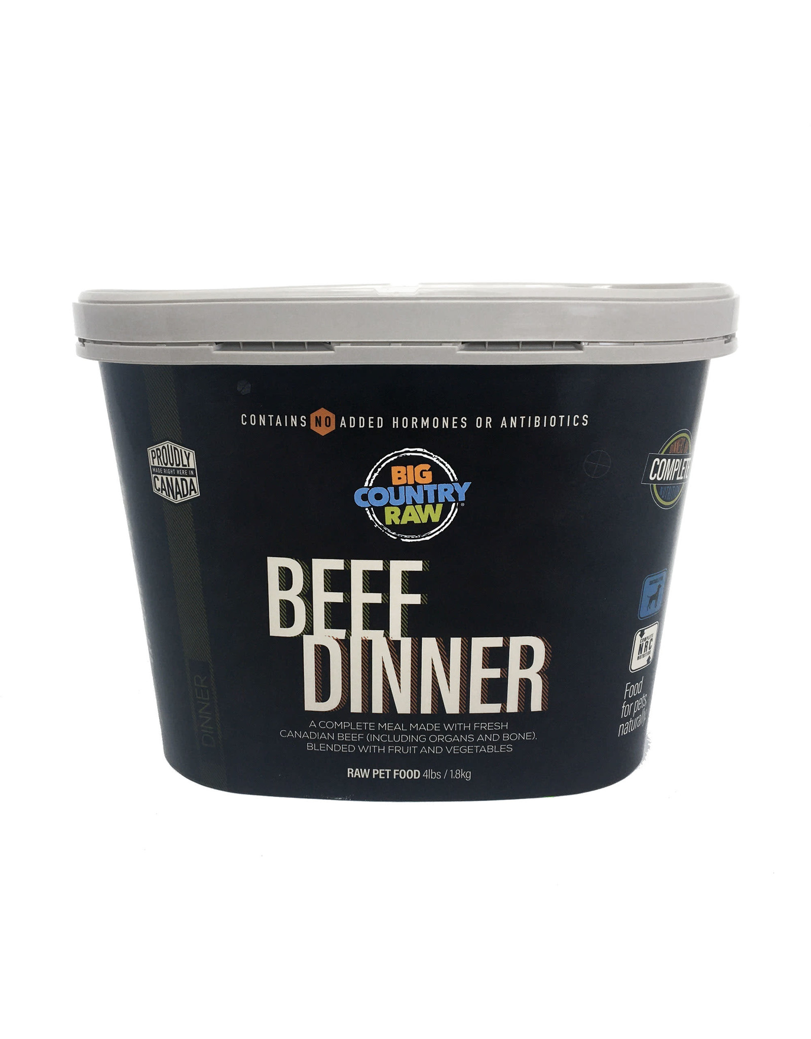 Big Country Raw BCR TUB 4lb - Beef Dinner