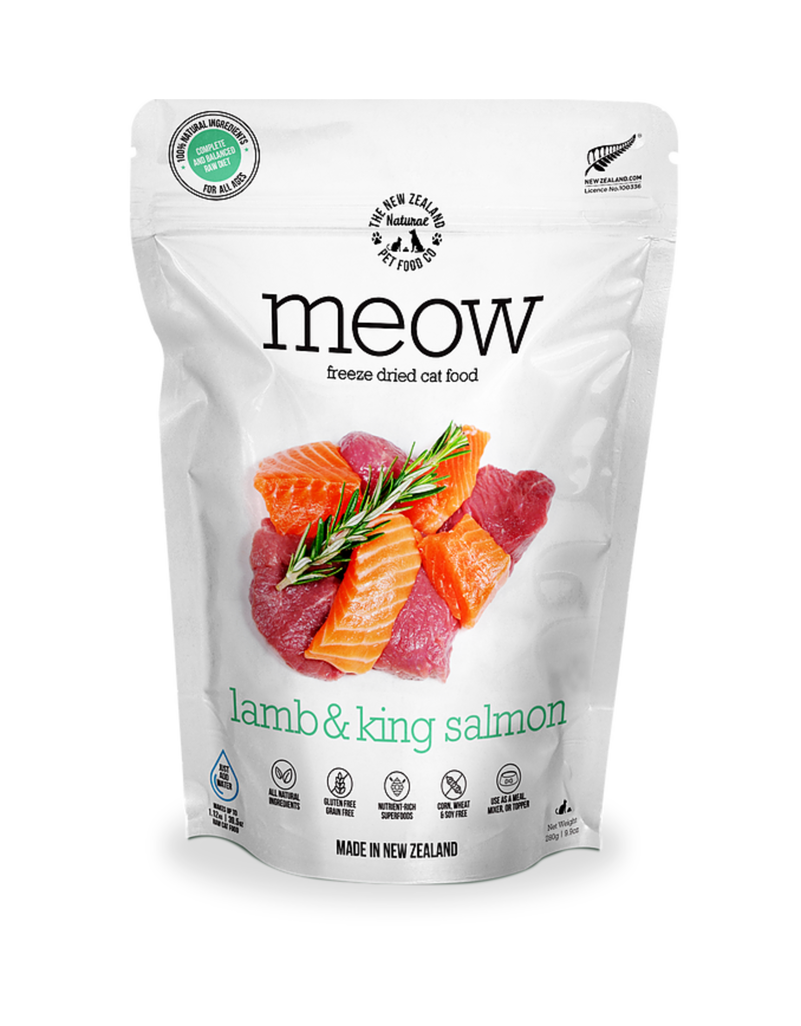 New Zealand Pet Food Co. NewZealand PetFoodCo - MEOW Lamb & Salmon 280g