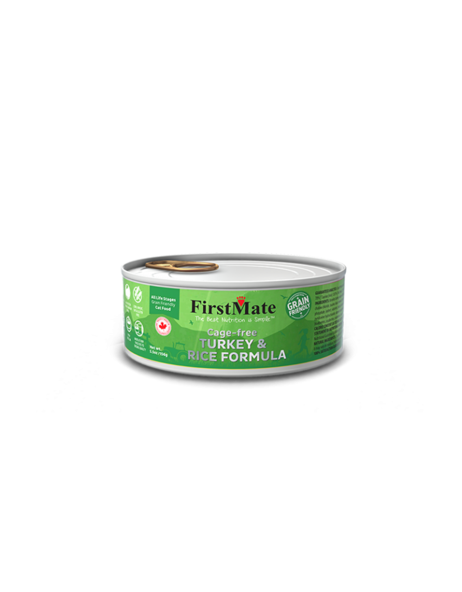 FirstMate FirstMate GrainFriendly CAT CAN Turkey w/Rice 156g
