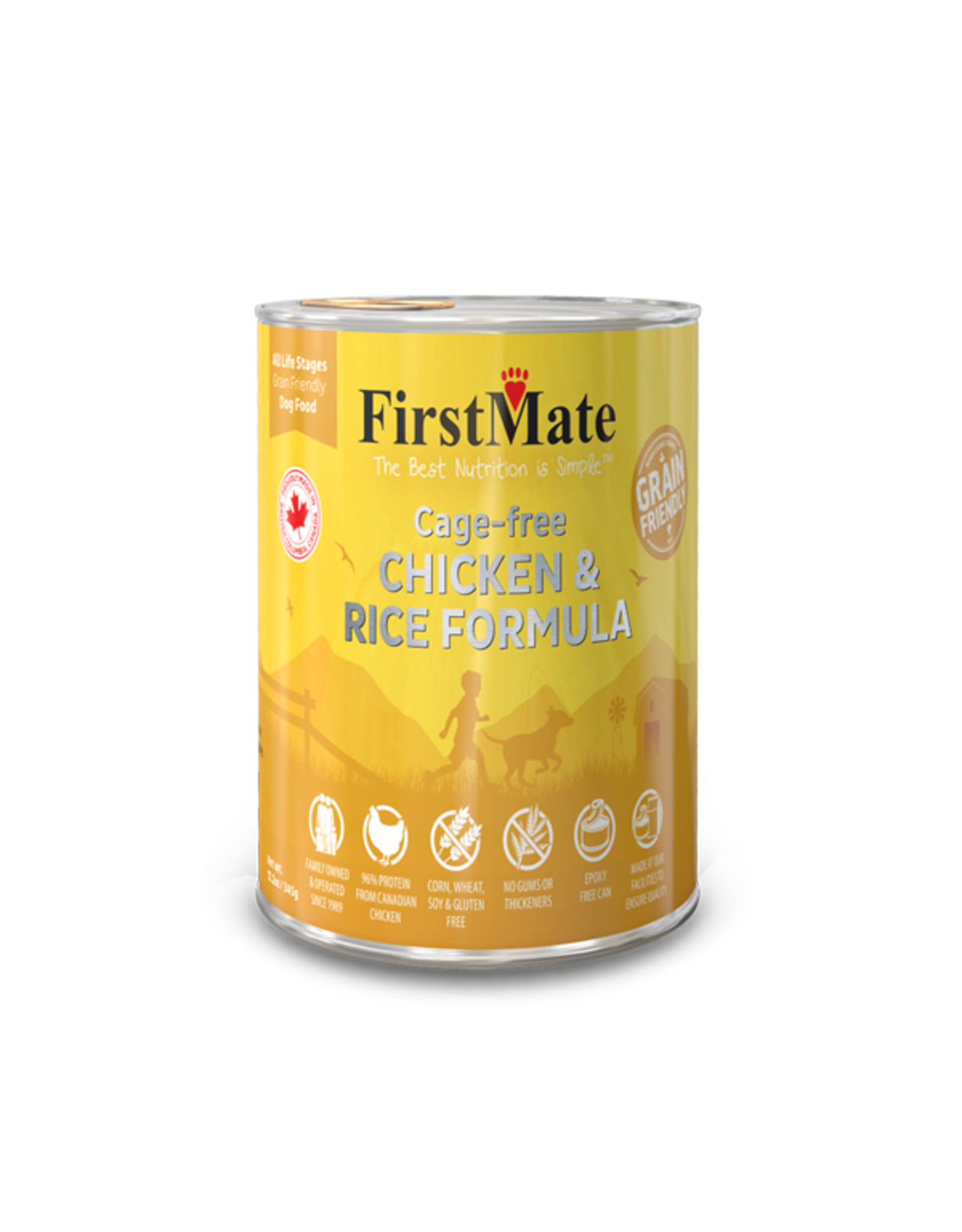 FirstMate FirstMate GrainFriendly DOG CAN Chicken w/Rice 345g