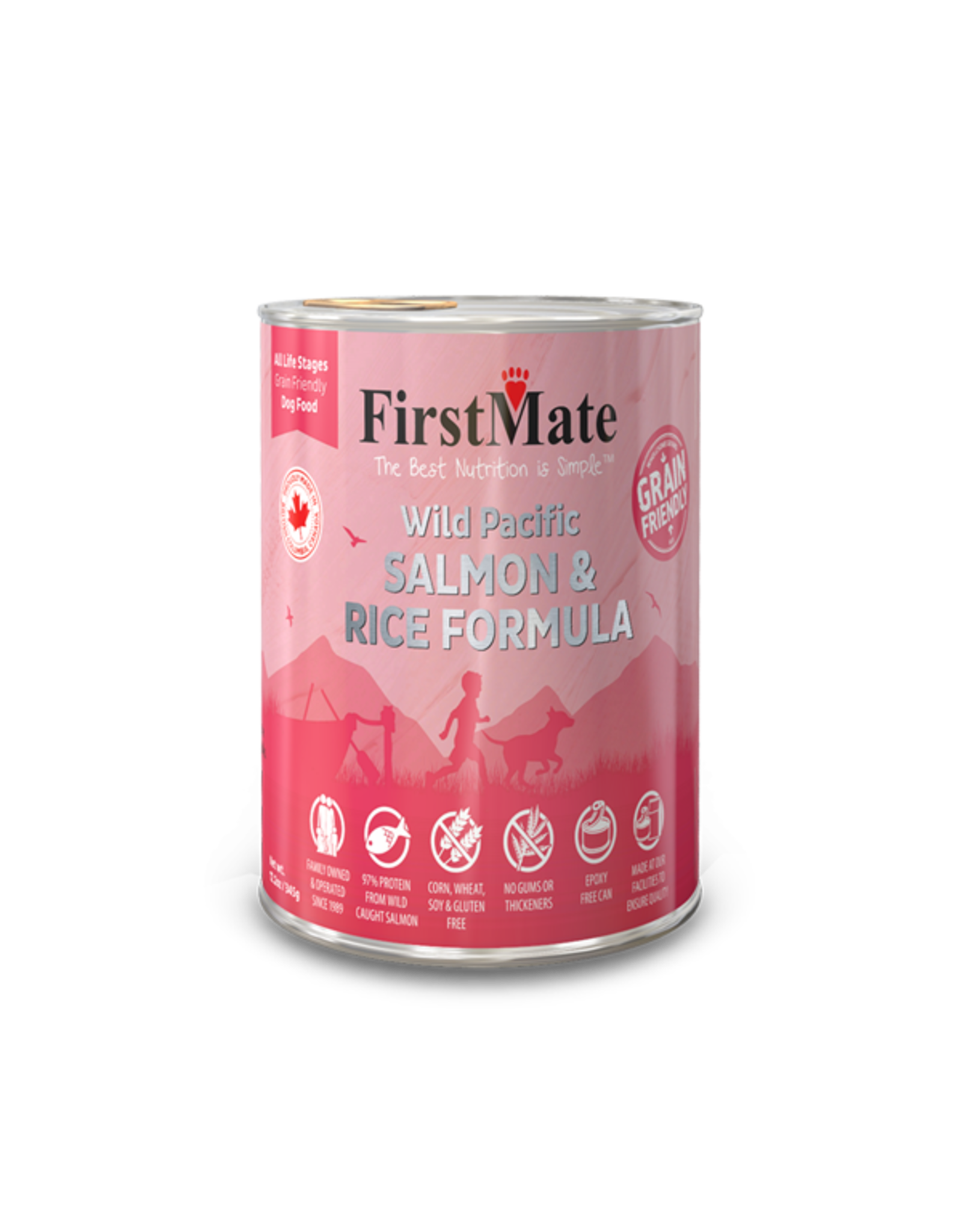 FirstMate FirstMate GrainFriendly DOG CAN Salmon w/Rice 345g