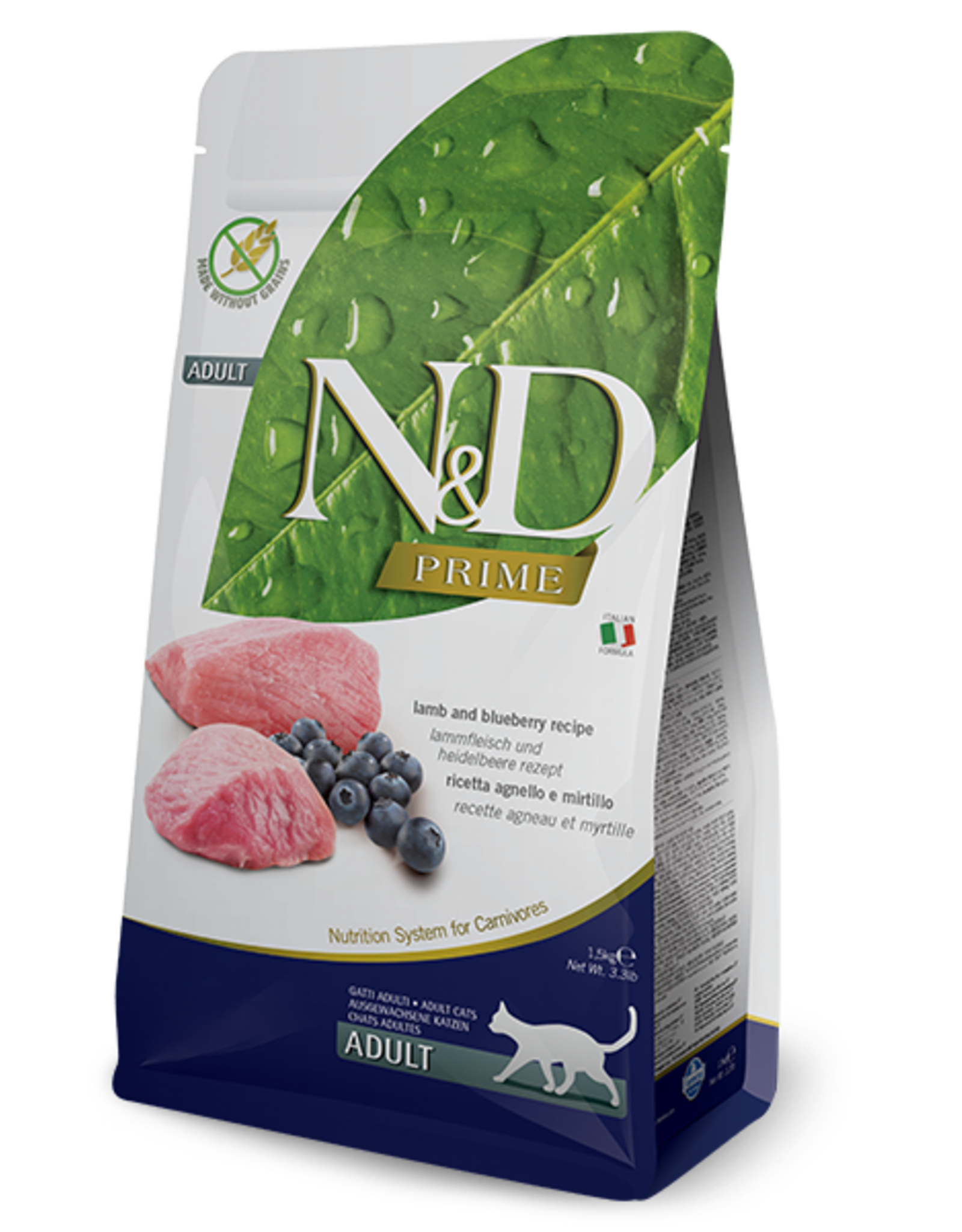 NAtural&Delicious N&D CAT Lamb & Blueberry ADULT 3.3lb