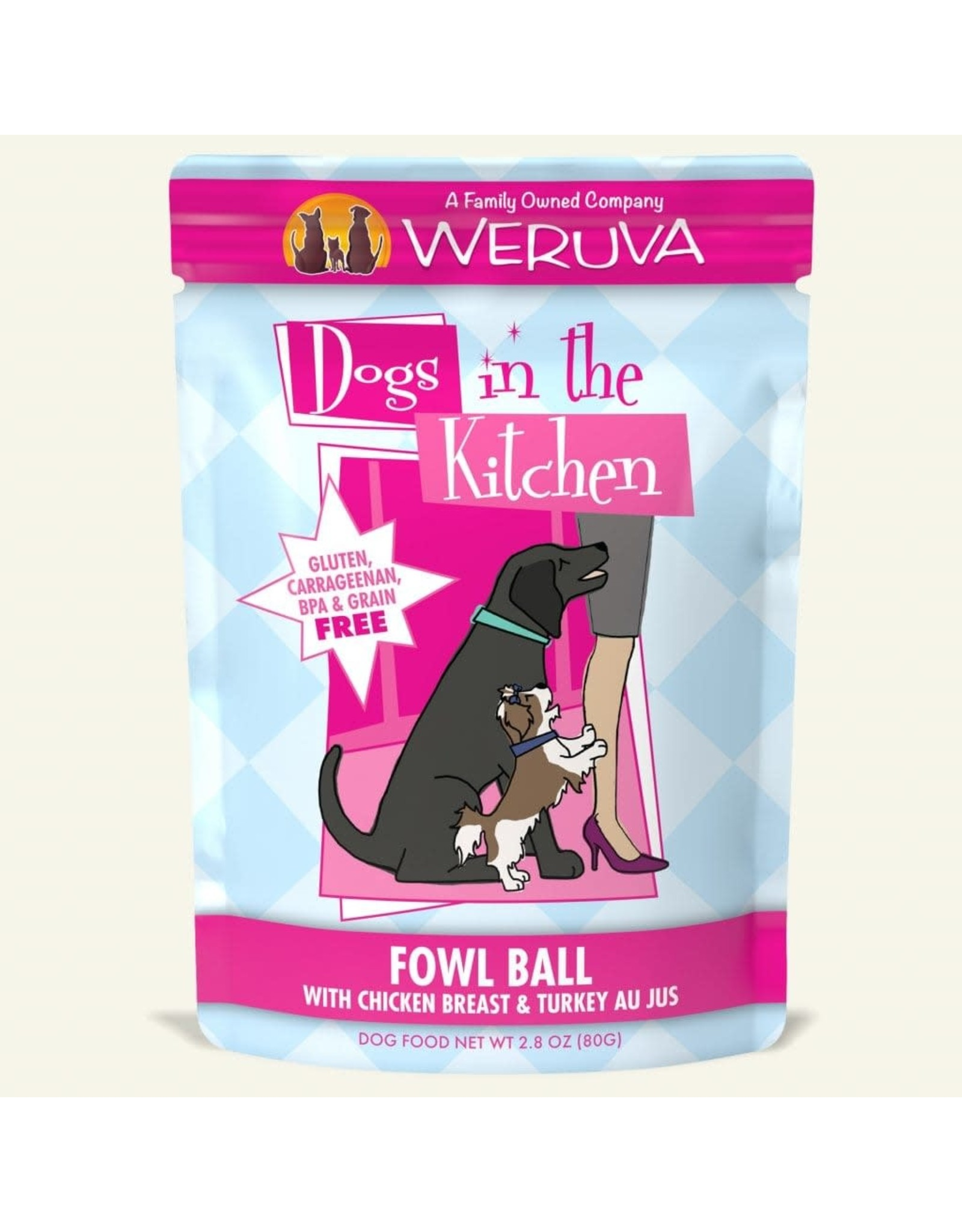 WERUVA Dogs in the Kitchen - Fowl Ball 2.8oz