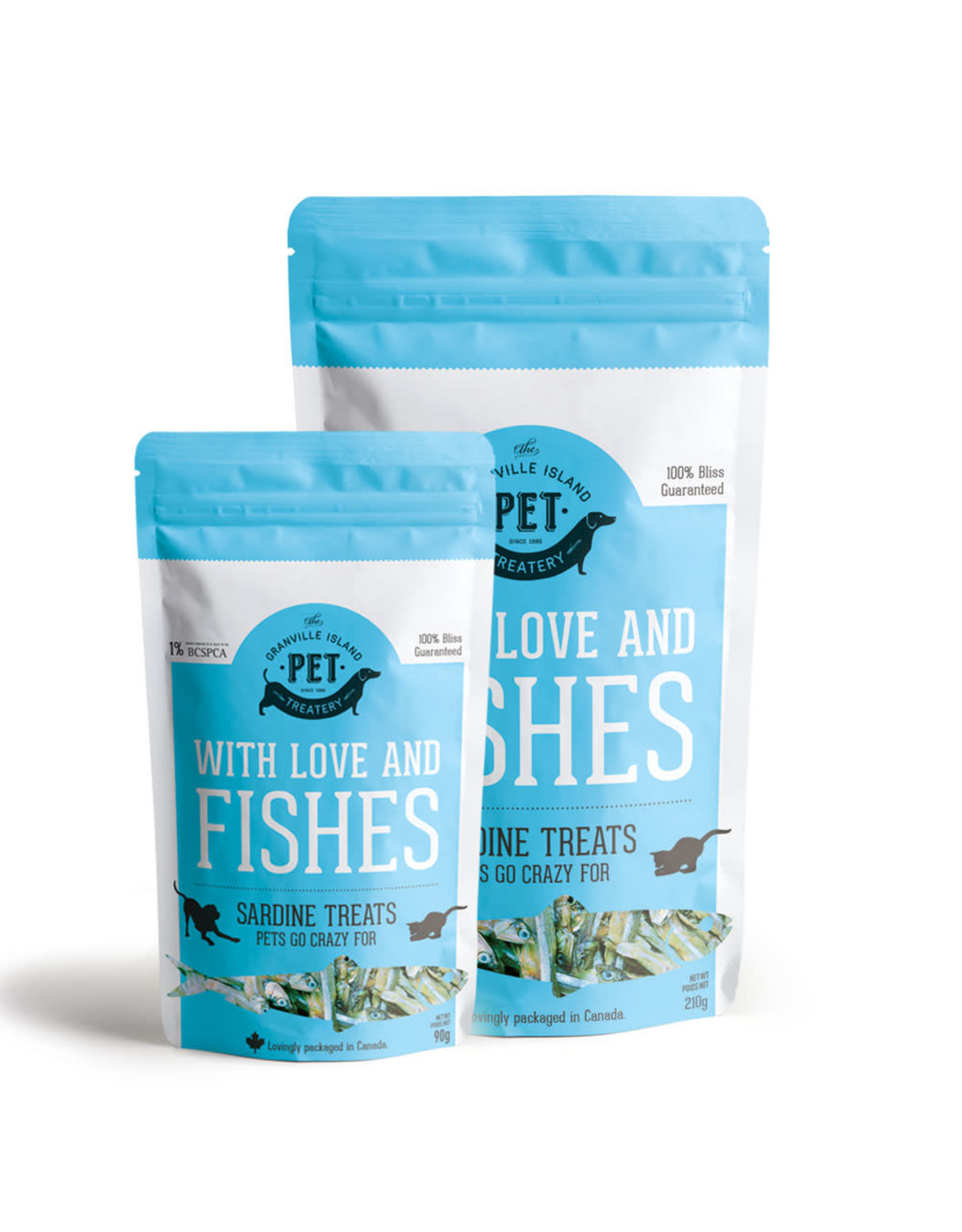 GIPT GIPT for DOGS&CATS With Love and Fishes Dried Sardine Treats 210g *big bag