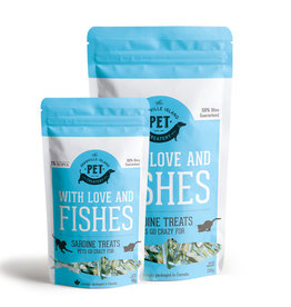 GIPT GIPT for DOGS&CATS With Love and Fishes Dried Sardine Treats 90g