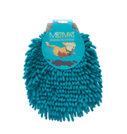 MessyMutts MessyMutts Chenille Grooming Mitt - Blue