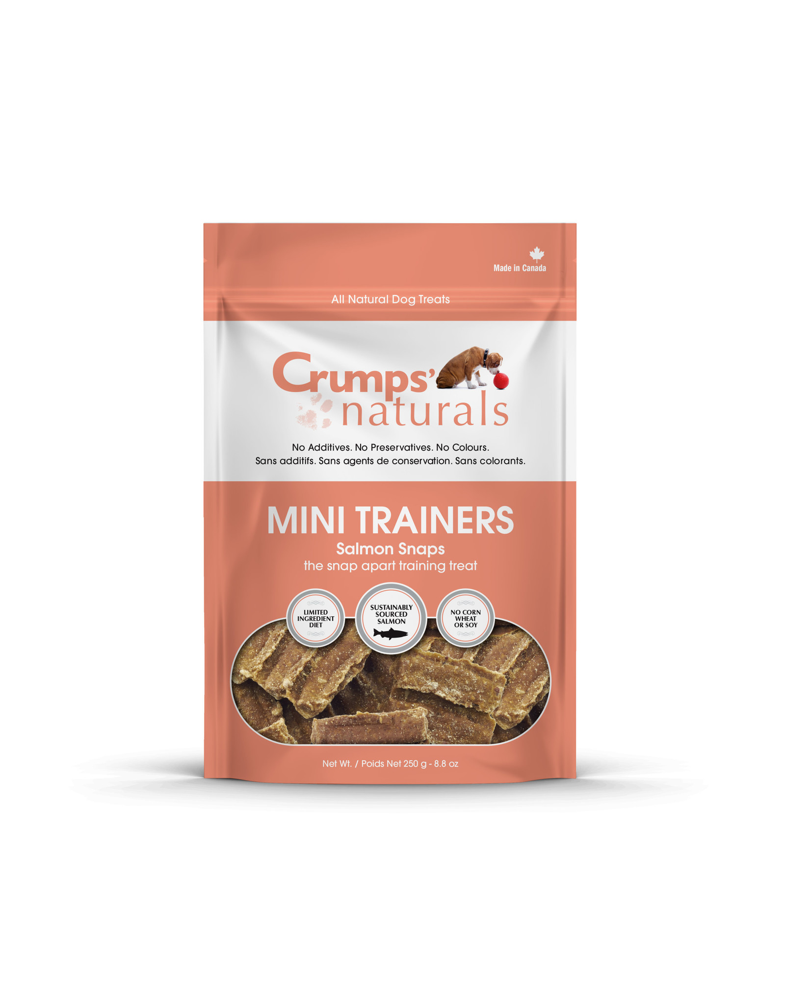 Crumps CRUMPS MiniTrainers Salmon Snaps 250g