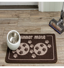 Pet Rebellion PetRebellion Dinner Mate Brown Food Mat 15.75x23.5""