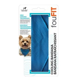 FouFouBrands FFD - FouFit - Cooling Bandana - Blue Small 14.5""