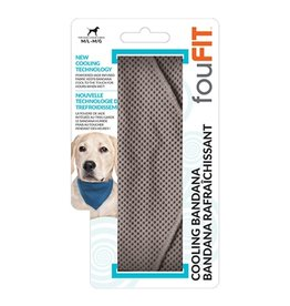 FouFouBrands FFD - FouFit - Cooling Bandana - Grey Small 14.5""
