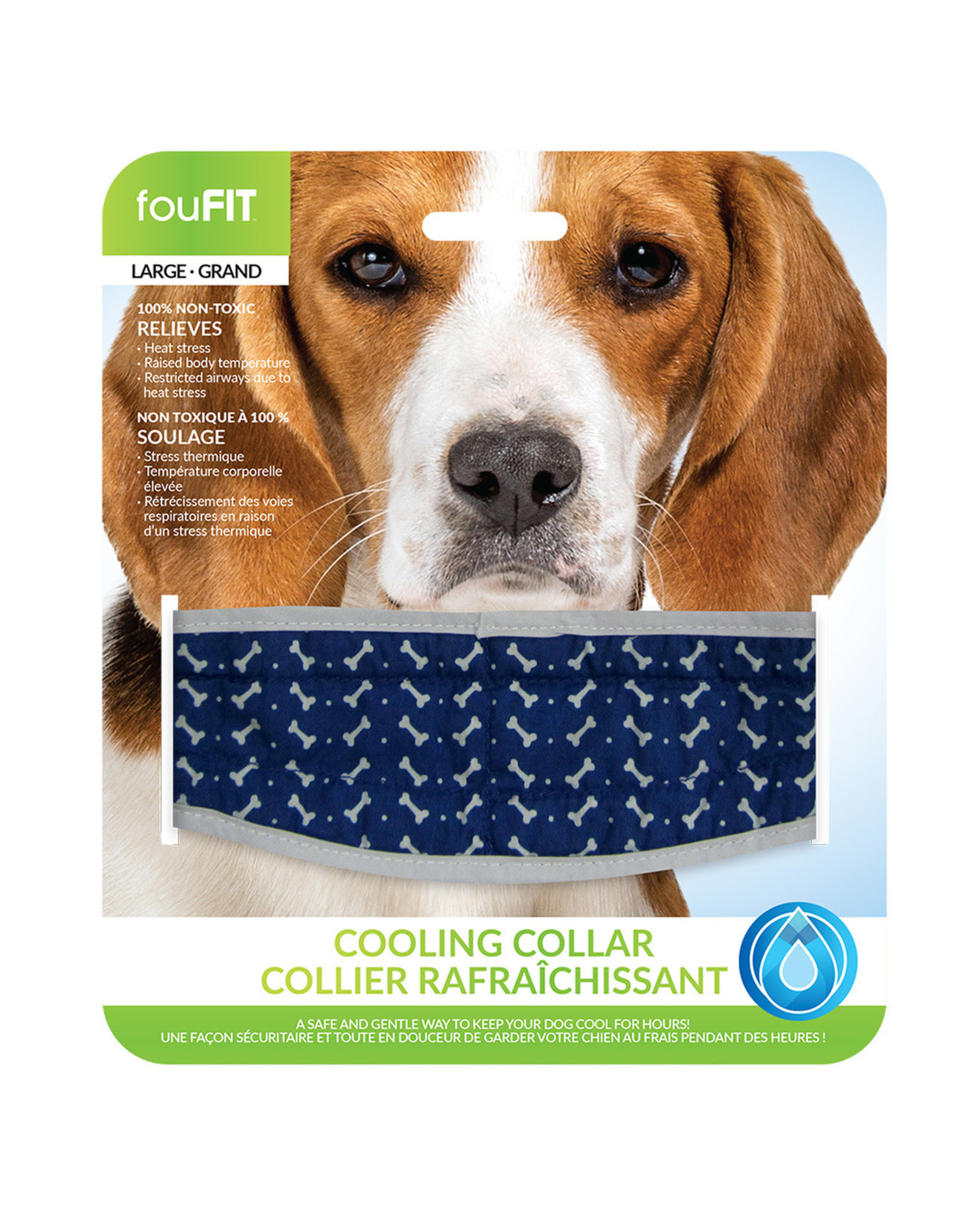 """FouFouBrands FFD - FouFit - Cooling Collar - Blue Small 14"""""""