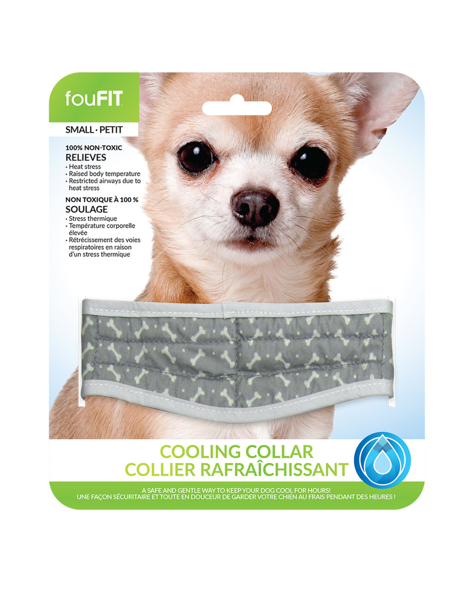 """FouFouBrands FFD - FouFit - Cooling Collar - Grey Large 20.5"""""""