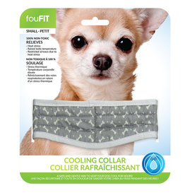 FouFouBrands FFD - FouFit - Cooling Collar - Grey Small 14""