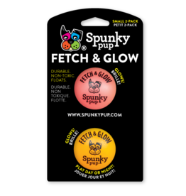SpunkyPup SpunkyPup Fetch (&Glow) Ball Small 2pk