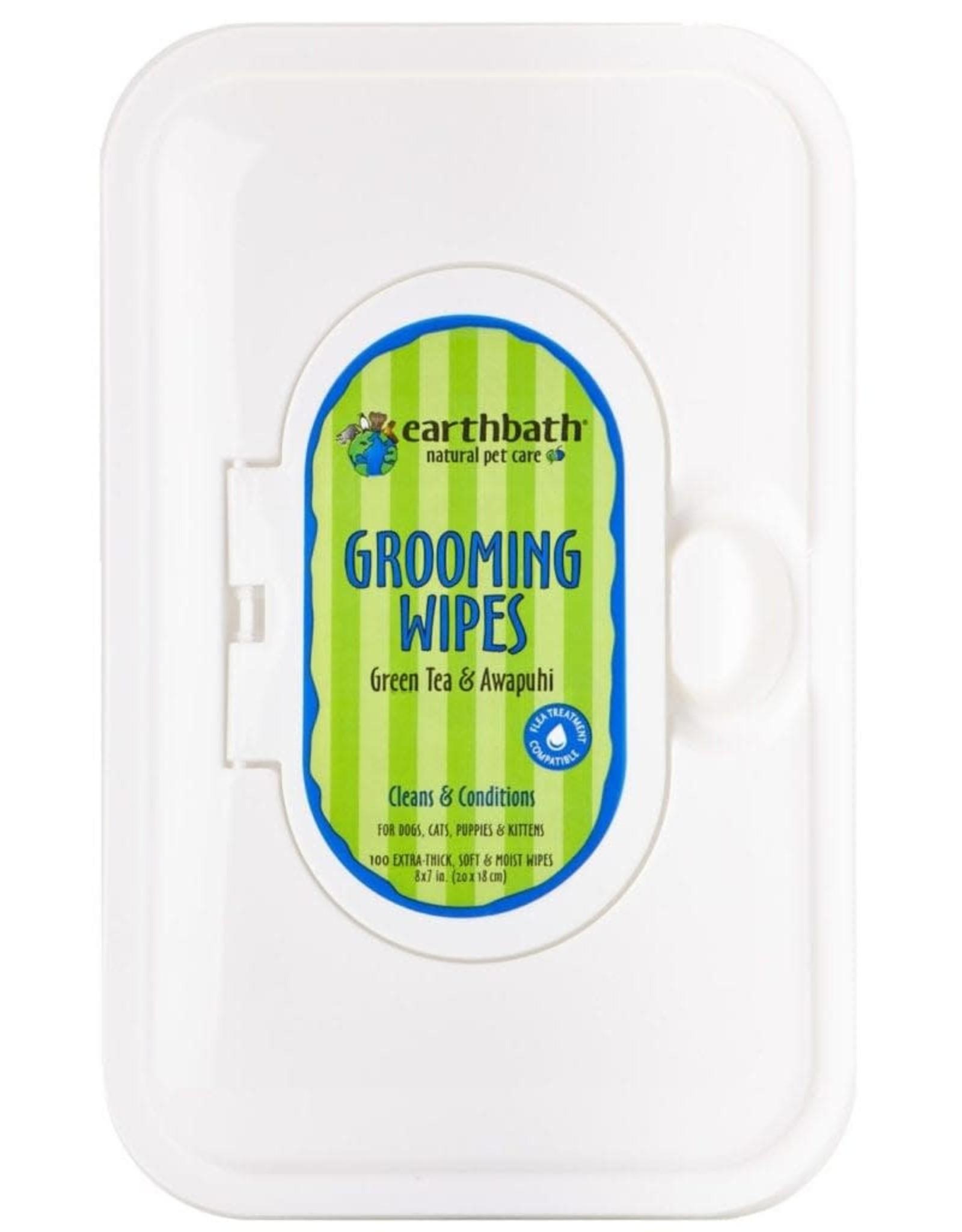 Earthbath EARTHBATH Grooming Wipes Green Tea
