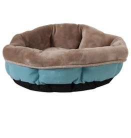 "PRECISION PRECISION Rustic Elegance Round Shearling Bed 17"" Teal"