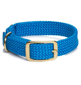 "Mendota Mendota Double-Braid Collar BLUE 1""x18"""